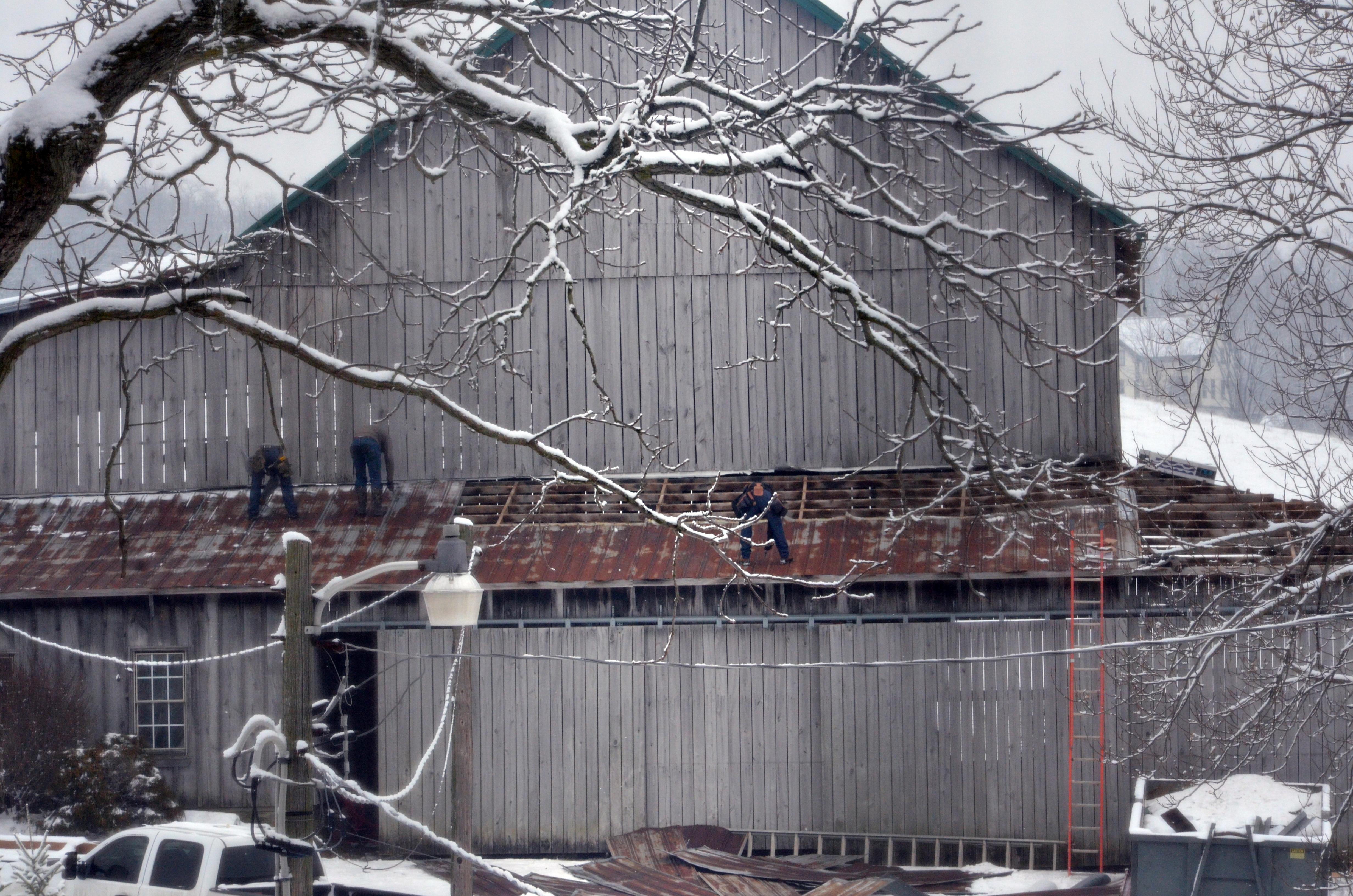 Barn roof repairs